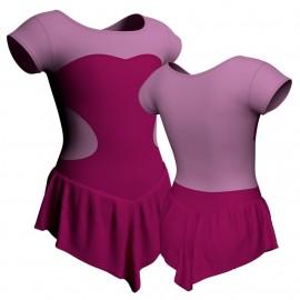 Body danza con gonnellino maniche aletta e inserto SK714LCL1001