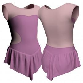 Body danza con gonnellino senza maniche e inserto SK714LCL1001SS