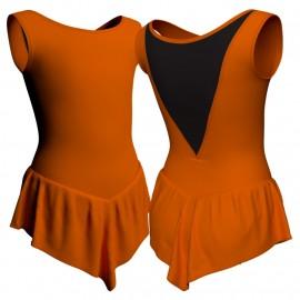 Body danza con gonnellino senza maniche e inserto SK714LCL1003