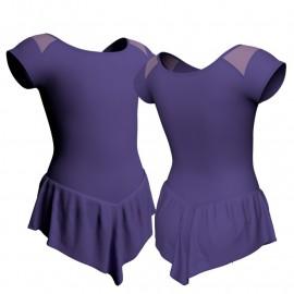 Body danza con gonnellino maniche aletta e inserto SK714LCL1004