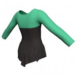 Body danza con gonnellino maniche lunghe e inserto SK714LCL1019