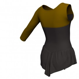 Body danza con gonnellino monospalla e inserto SK714LCL1019SST