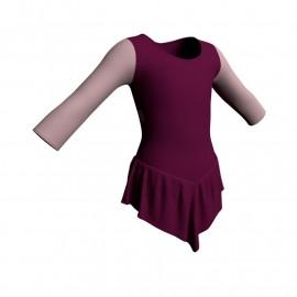 Body danza con gonnellino maniche lunghe e inserto SK714LCL102