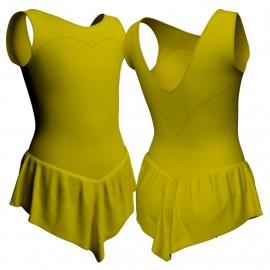 Body danza con gonnellino senza maniche e inserto SK714LCL103