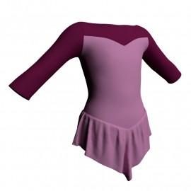 Body danza con gonnellino maniche 3/4 e inserto SK714LCL105
