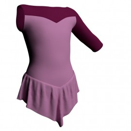 Body danza con gonnellino monospalla e inserto SK714LCL105SST