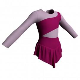 Body danza con gonnellino maniche lunghe e inserto SK714LCL108