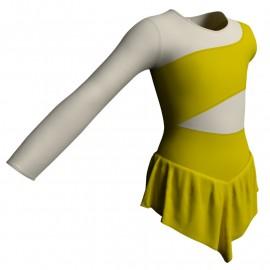 Body danza con gonnellino monospalla e inserto SK714LCL108SS