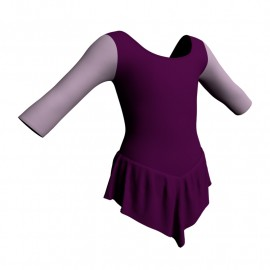 Body danza con gonnellino maniche 3/4 e inserto SK714LCL406T
