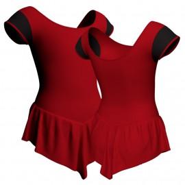 Body danza con gonnellino maniche aletta e inserto SK714LCL408T