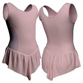 Body danza con gonnellino senza maniche e inserto SK714LCL415