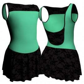 Body danza senza maniche con inserto belen pro e gonnellino in belen pro SK1LBB1002