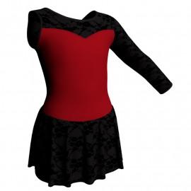 Body danza Monospalla con inserto belen pro e gonnellino in belen pro SK1LBB1019SST