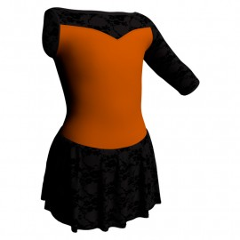 Body danza Monospalla con inserto belen pro e gonnellino in belen pro SK1LBB105SST