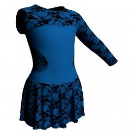 Body danza Monospalla con inserto belen pro e gonnellino in belen pro SK1LBB110SST