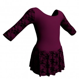 Body danza maniche 3/4 con inserto belen pro e gonnellino in belen pro SK1LBB406T