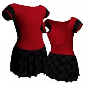 Body danza bretelle con inserto belen pro e gonnellino in belen pro SK1LBBB3005