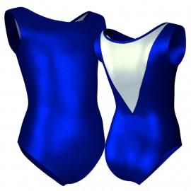 Body danza in lurex senza maniche con inserto PXC1003
