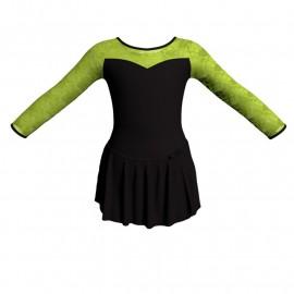 Body danza con gonnellino maniche lunghe e inserto SK515LPL1019