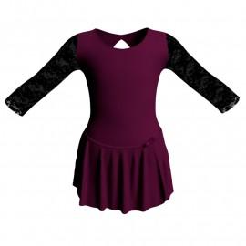 Body danza con gonnellino maniche lunghe e inserto SK515LPL102