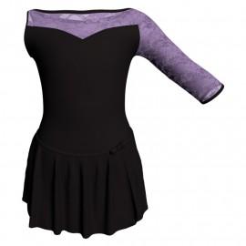 Body danza con gonnellino monospalla e inserto SK515LPL105SST