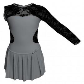 Body danza con gonnellino monospalla e inserto SK515LPL110SST