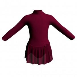 Body danza con gonnellino in chiffon maniche lunghe con inserto SK515LCC119