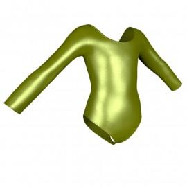 Body danza in lurex maniche lunghe PXC405