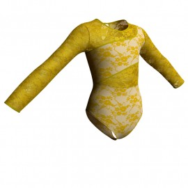 Body danza in belen pro maniche lunghe con inserto in rete o pizzo PBR108
