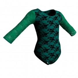 Body danza in belen pro maniche lunghe con inserto in rete o pizzo PBR102