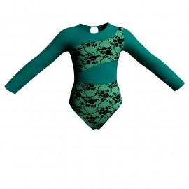 Body danza in belen pro maniche lunghe con inserto PLA108