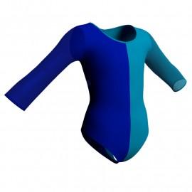 Body danza bicolor maniche lunghe con inserto PLL102