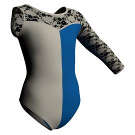 Body danza bicolore Monospalla con inserto belen pro PLZ1019SST