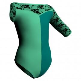 Body danza bicolore Monospalla con inserto belen pro PLZ105SST