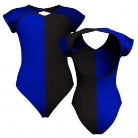 Body danza bicolore maniche aletta con inserto in lurex PLF126SS