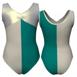 Body danza bicolore canotta con inserto in lurex PLF425