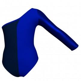 Body danza bicolore senza maniche con inserto in lurex PLF999T
