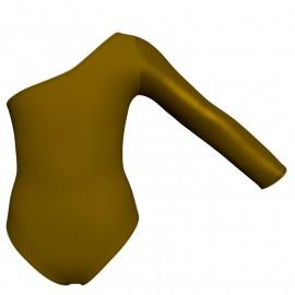 Body danza bicolore senza maniche con inserto in lurex PLI999T