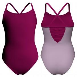Body danza bicolore bretelle PLK209
