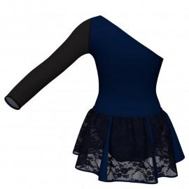 Vestito danza con gonnellino in pizzo senza maniche e inserto SK302LPP999T
