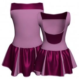 Vestito danza con gonnellino in lurex senza maniche e inserto SK302LXX1002