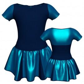 Vestito danza con gonnellino in lurex manica corta e inserto SK302LXX111