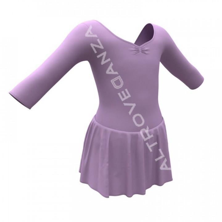 3/4 Sleeved Dance Leotard with Skirt B444