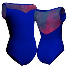 Body danza senza maniche con inserto in lurex PLX105SS