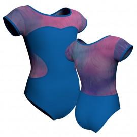 Body danza maniche aletta con inserto in lurex PLX1001
