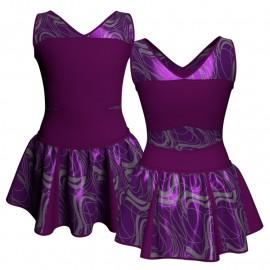 Vestito danza con gonnellino in lurex senza maniche e inserto SK302LXX101
