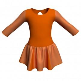 Vestito danza con gonnellino in lurex maniche lunghe e inserto SK302LXX102