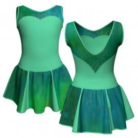 Vestito danza con gonnellino in lurex senza maniche e inserto SK302LXX103