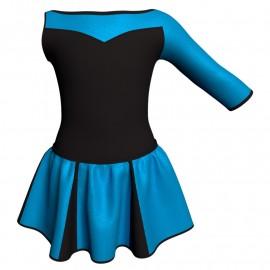 Vestito danza con gonnellino in lurex Monospalla e inserto SK302LXX105SST