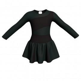 Vestito danza con gonnellino in lurex maniche lunghe e inserto SK302LXX108